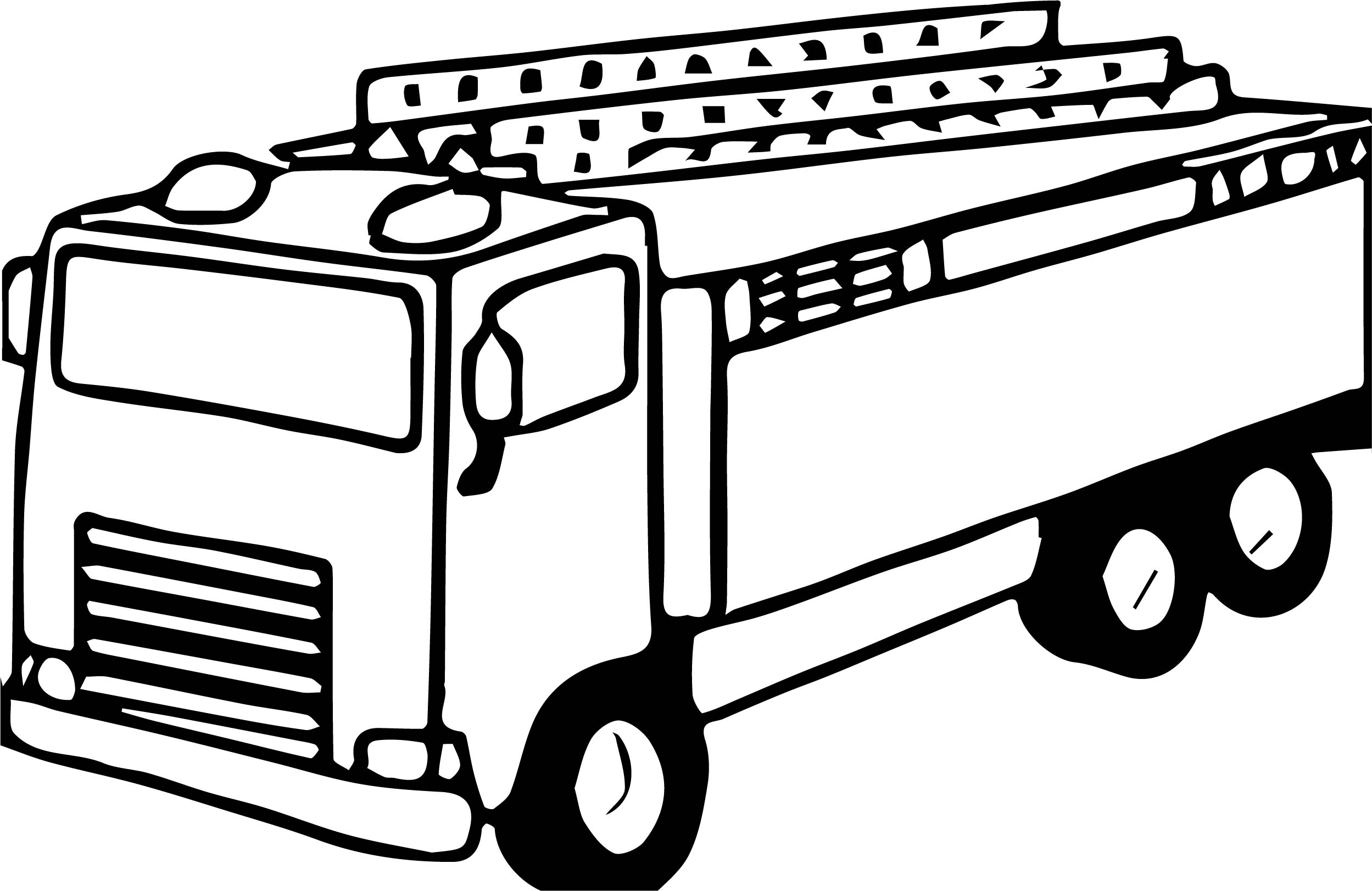 2498x1622 Old Fire Truck Coloring Page Wecoloringpage