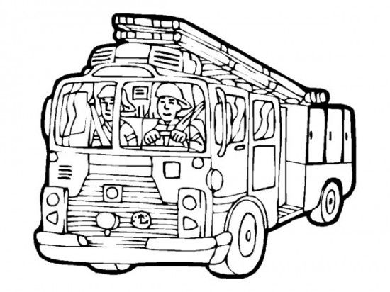 550x412 Printable Big Fire Truck Coloring Pages Fireman Birthday