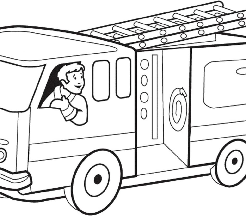 1024x900 Toy Fire Truck Coloring Page For Preschoolers Pages Printable