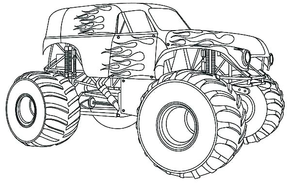 600x383 Truck Coloring Pages Car Transporter Big Cement Truck Coloring