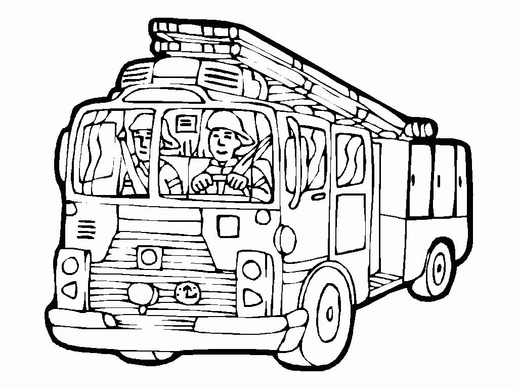 Fire Truck Coloring Pages For Kids