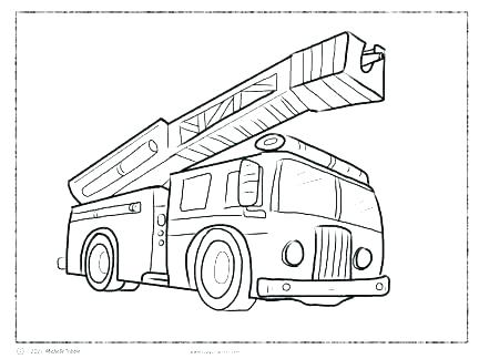 432x324 Fire Engine Coloring Pages Fire Engine Coloring Page With Fire