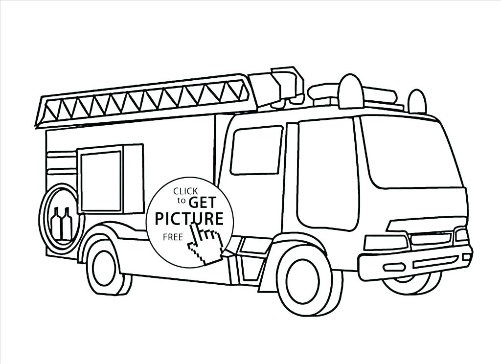 1024x744 Fire Engine Colouring Pages Truck Coloring Sheets Truck Coloring