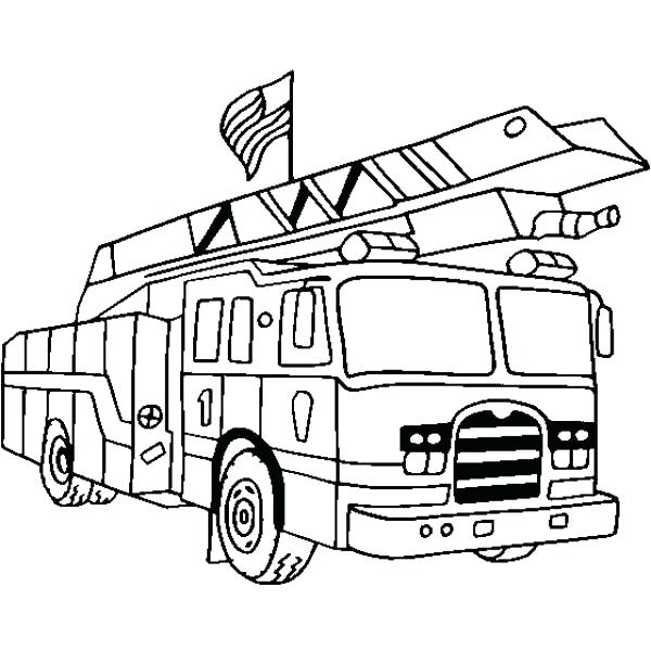 600x600 Fire Station Coloring Pages Pictures Printable Fire Truck Coloring