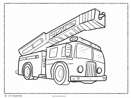 432x324 Fire Truck Coloring Page Crayon Action Coloring Pages