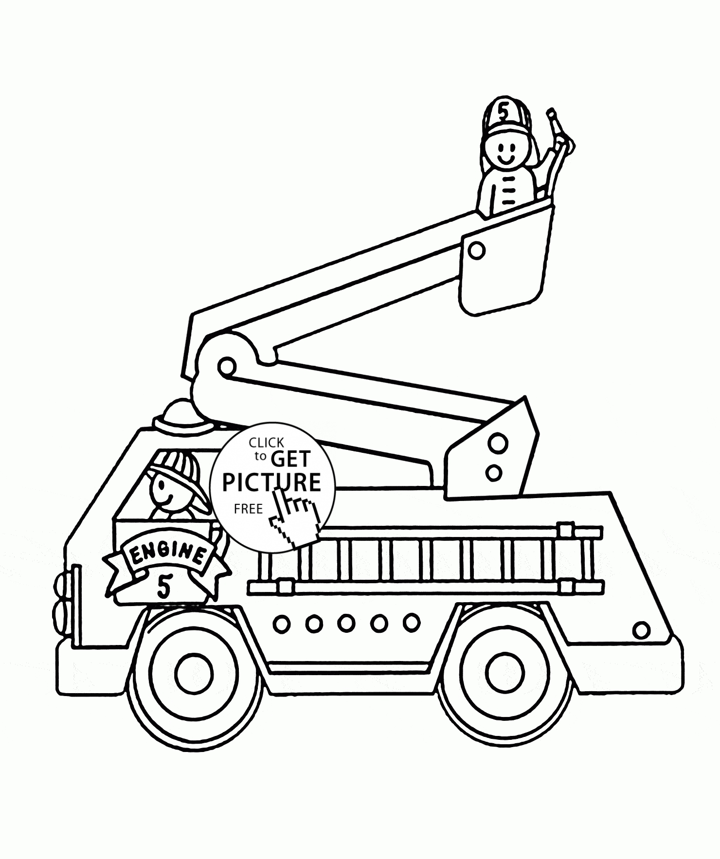 Fire Truck Coloring Pages Pdf At Getdrawings Com Free For Personal