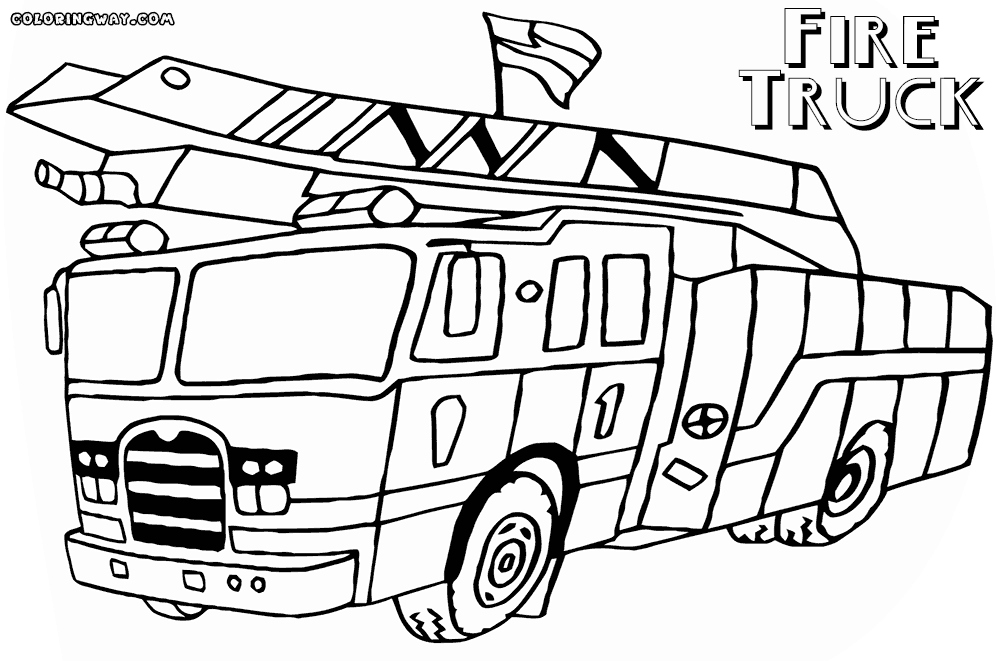 1000x661 Fire Truck Coloring Page Luxury Fire Truck Coloring Pages Pdf Free