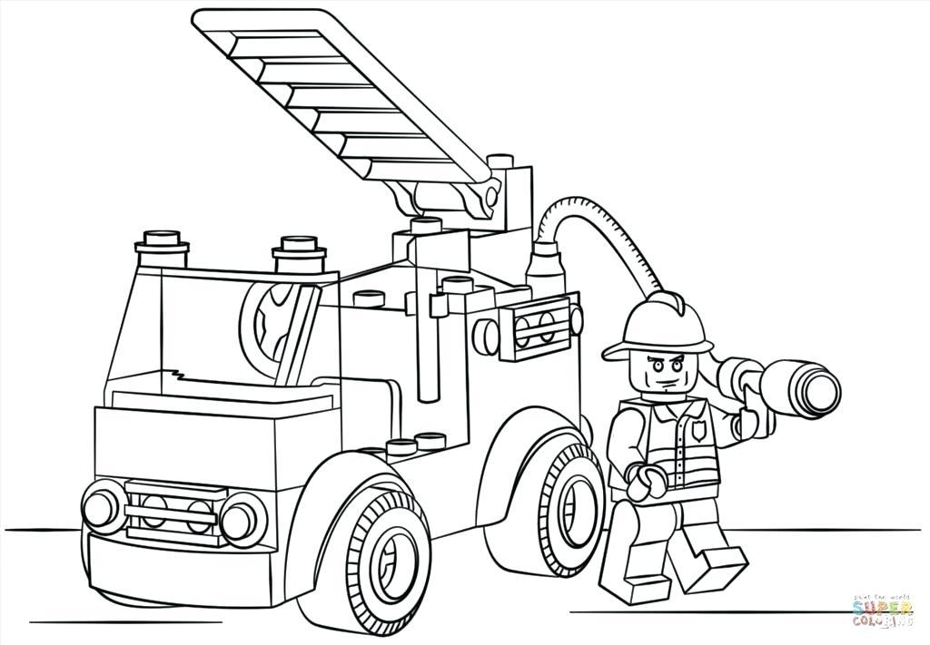 1024x711 Fire Truck Coloring Page Pumper Truck In Online Fire Truck