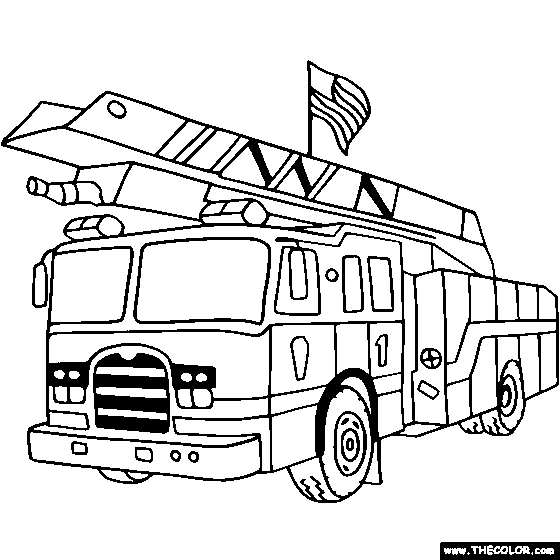 560x560 Fire Truck Coloring Pages Inspirational Fire Truck Coloring Pages