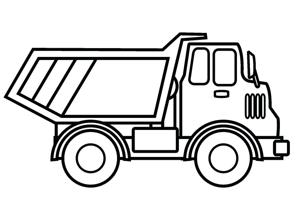 1000x750 Coloring Page Truck Free Printable Truck Coloring Pages Download