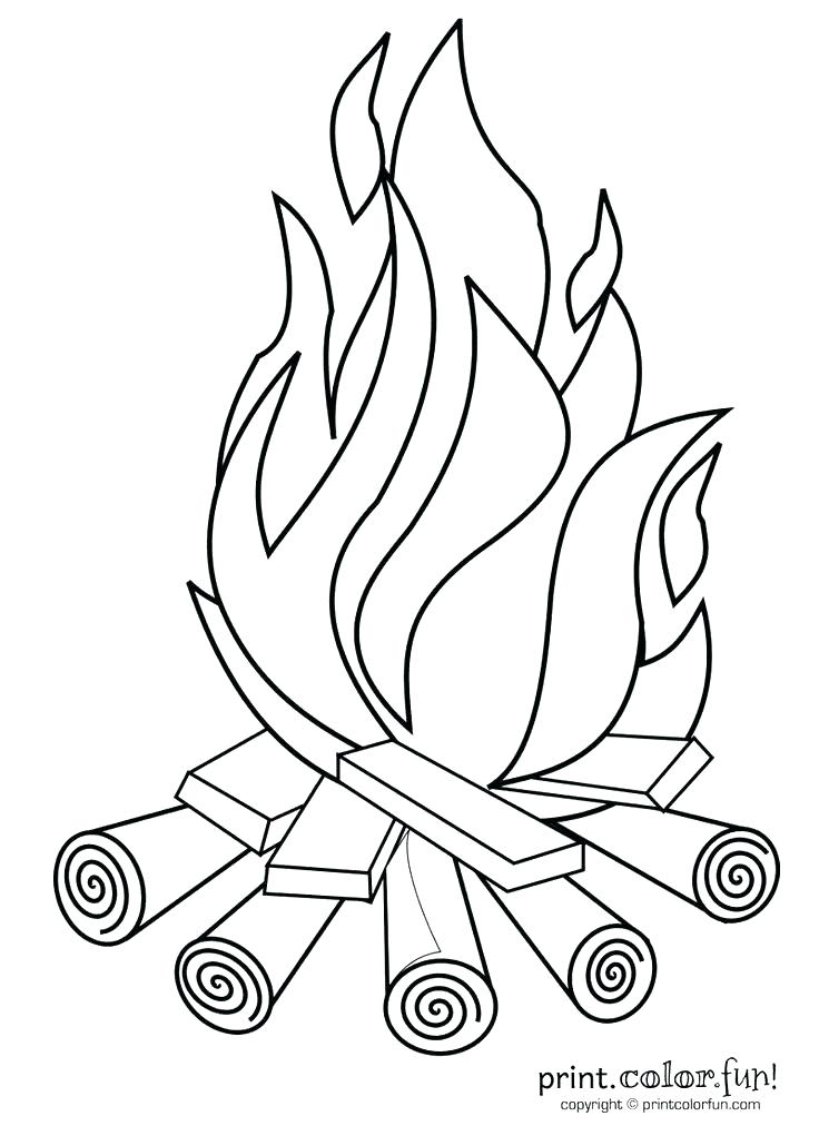 736x1012 Coloring Pages Fire Coloring Pages Fire Children Camp Fire