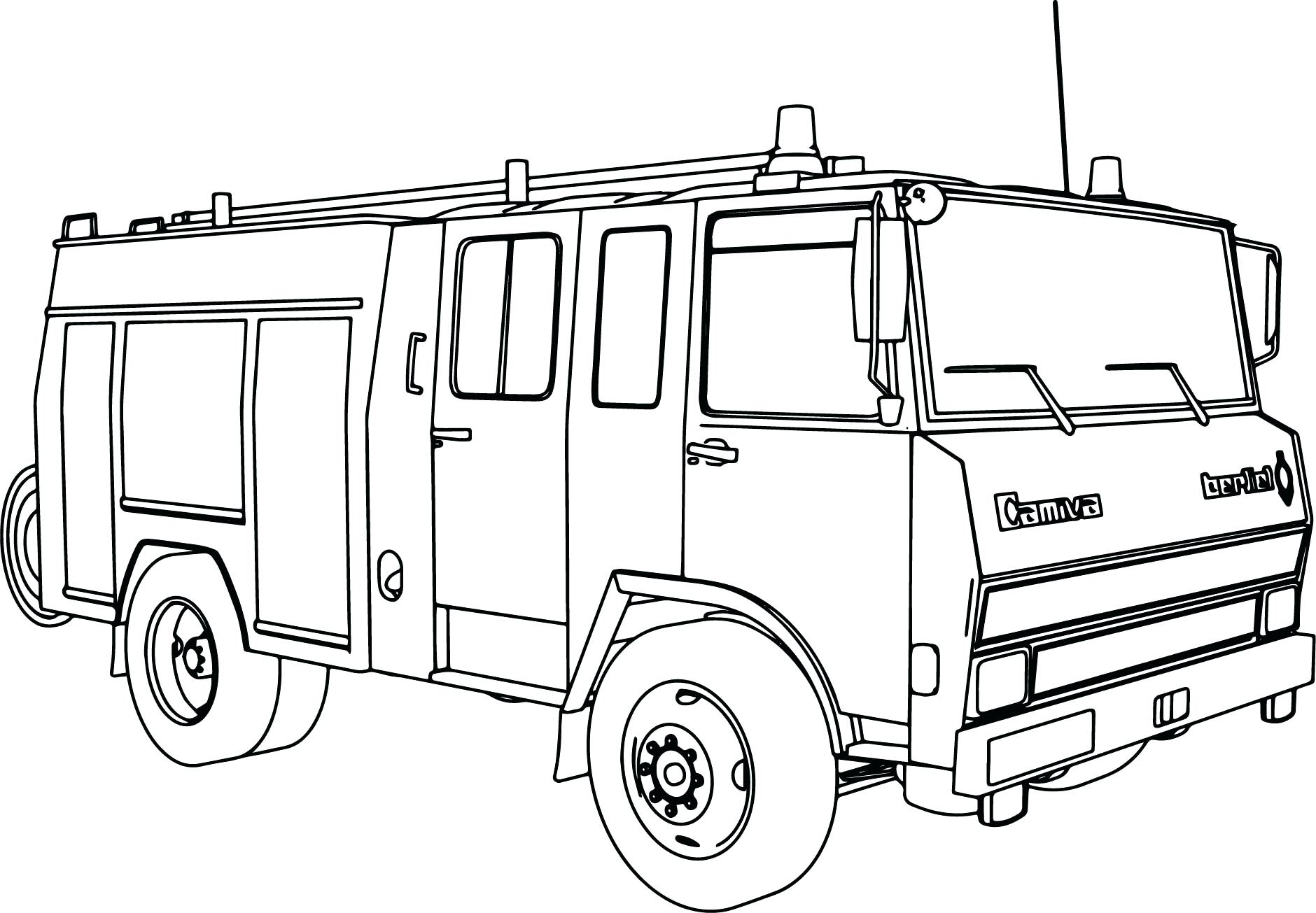 1880x1305 Coloring Pages Fire Truck Coloring Pages Boys Dump And Trucks