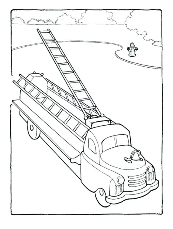 572x755 Extraordinary Firetruck Coloring Pages Free Printable Fire Truck