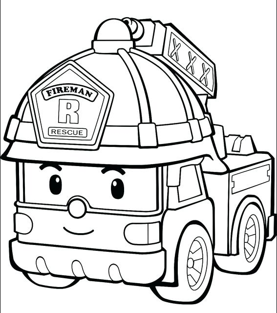 567x639 Fire Engine Coloring Pages Fire Truck Coloring Pages For Toddlers