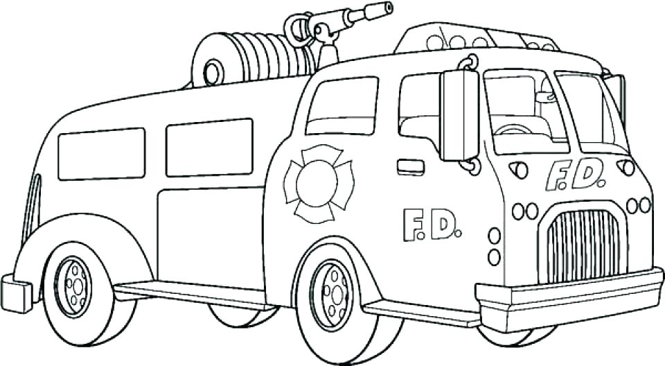 960x528 Fire Truck Pictures To Color Or Truck Color Pages Fire Truck