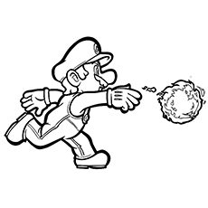 230x230 Mario Throwing Fireball Coloring Page