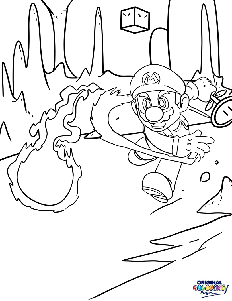 815x1056 Super Mario Coloring Pages Original Coloring Pages