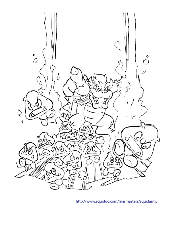 612x792 Super Mario Fireball Coloring Pages