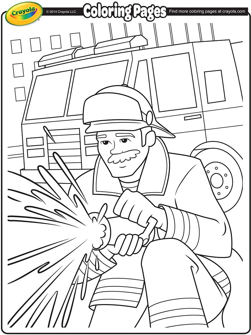 810x1080 Firefighter Coloring Page