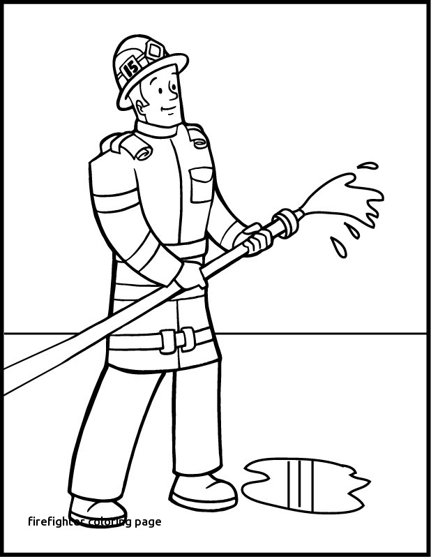 618x798 Firefighter Coloring Page