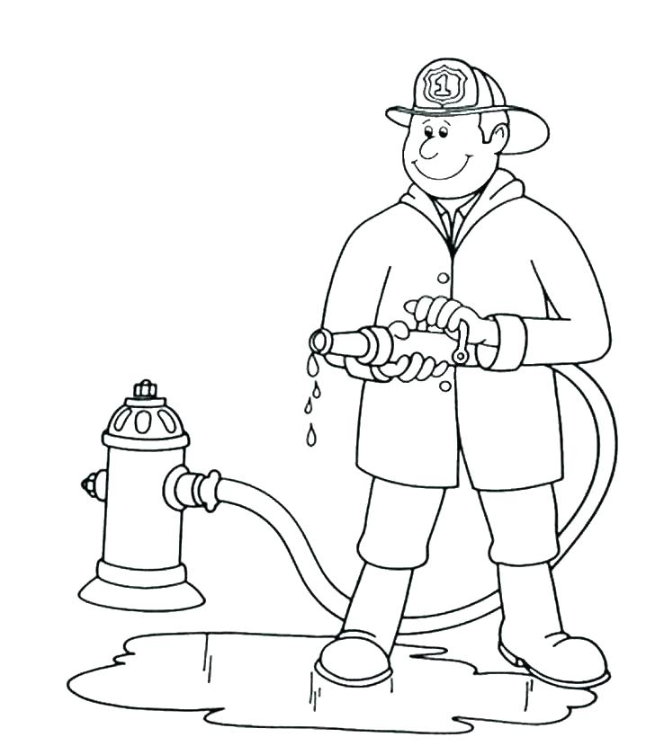 728x830 Firefighter Coloring Page Fireman Coloring Page Fire Fighting