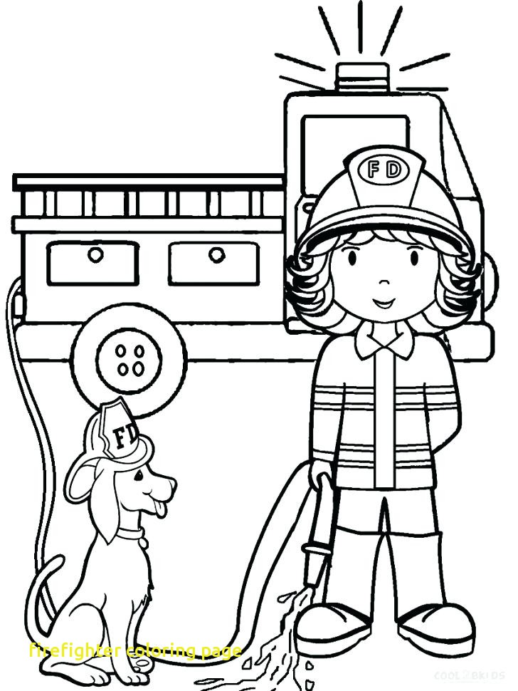 728x970 Firefighter Coloring Page With Firefighter Coloring Pages Line