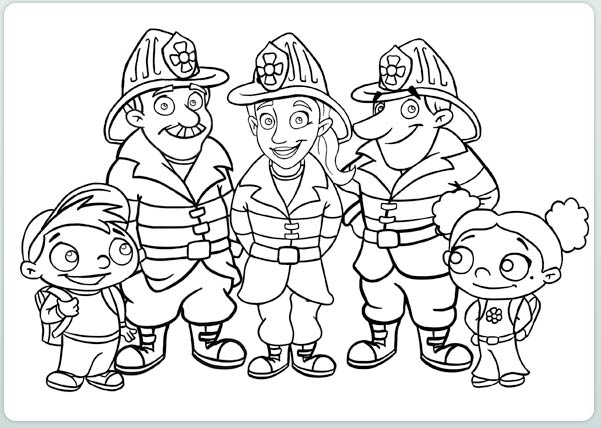 601x428 Firefighter Coloring Pages