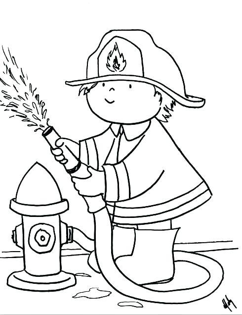 490x636 Fireman Bring Hose Coloring Page Fireman Bring Hose Firefighter