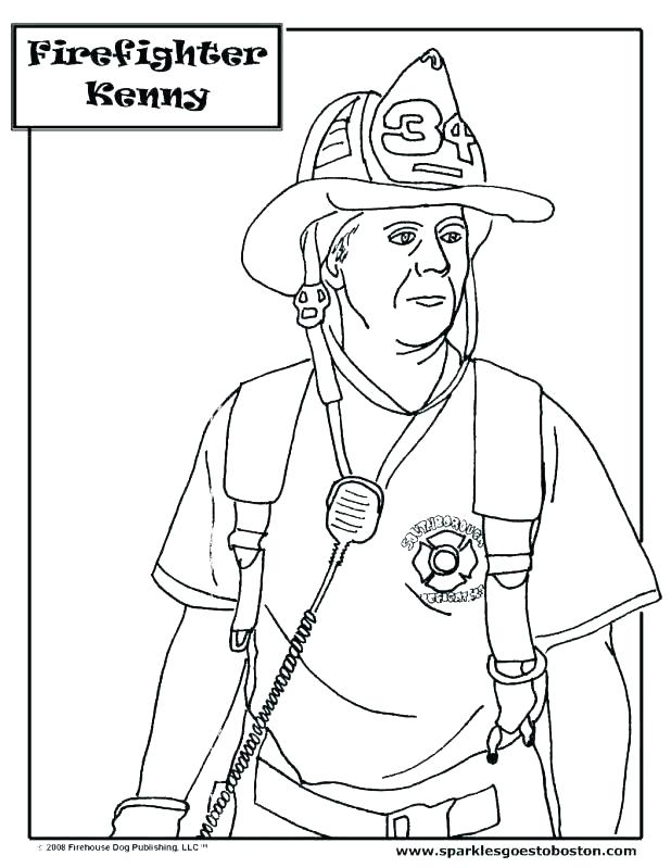 618x799 Fireman Coloring Pages Coloring Trend Medium Size Firefighter