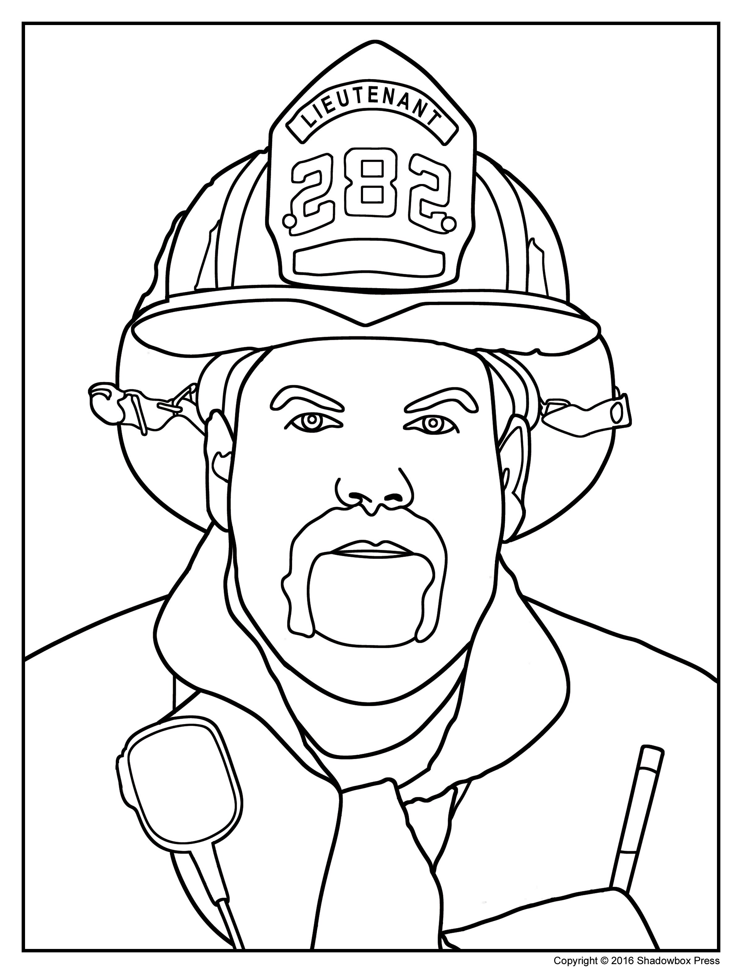 2400x3150 It S Here Firefighter Coloring Page Security F