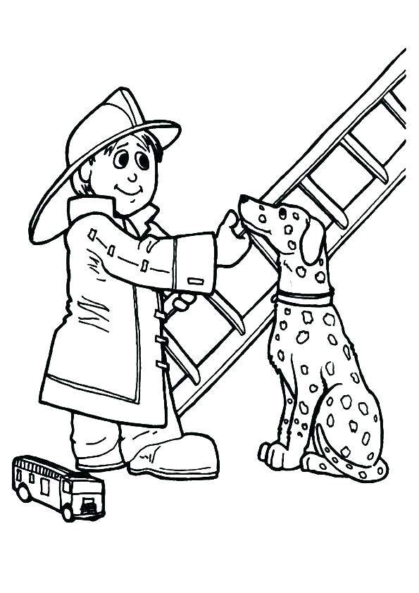 595x842 Printable Firefighter Coloring Pages Optimalmining Club
