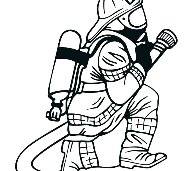 678x600 Fire Fighter Coloring Pages Firefighter Coloring Pages