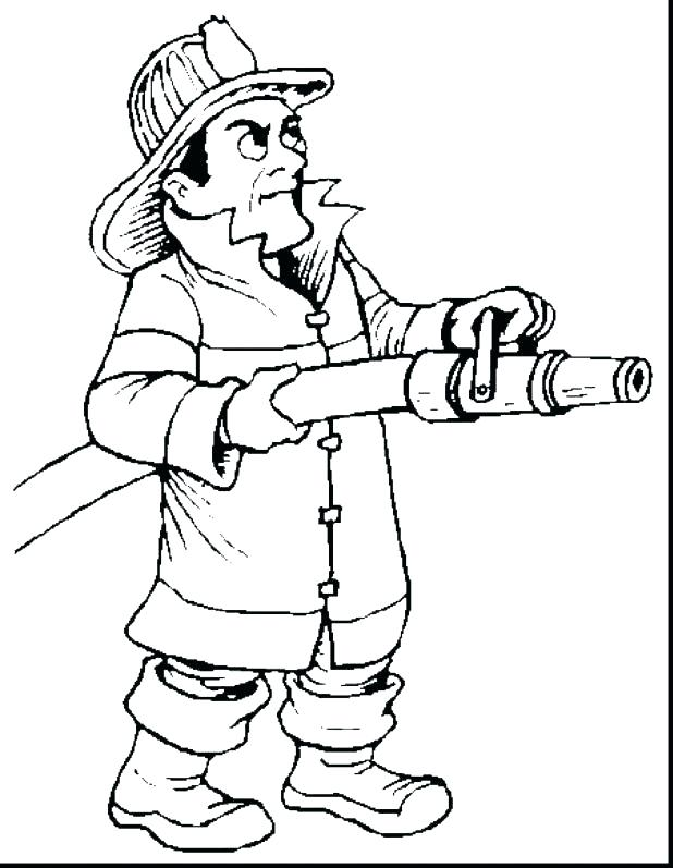 618x797 Fire Fighter Coloring Pages Firefighter Firefighter Coloring Page