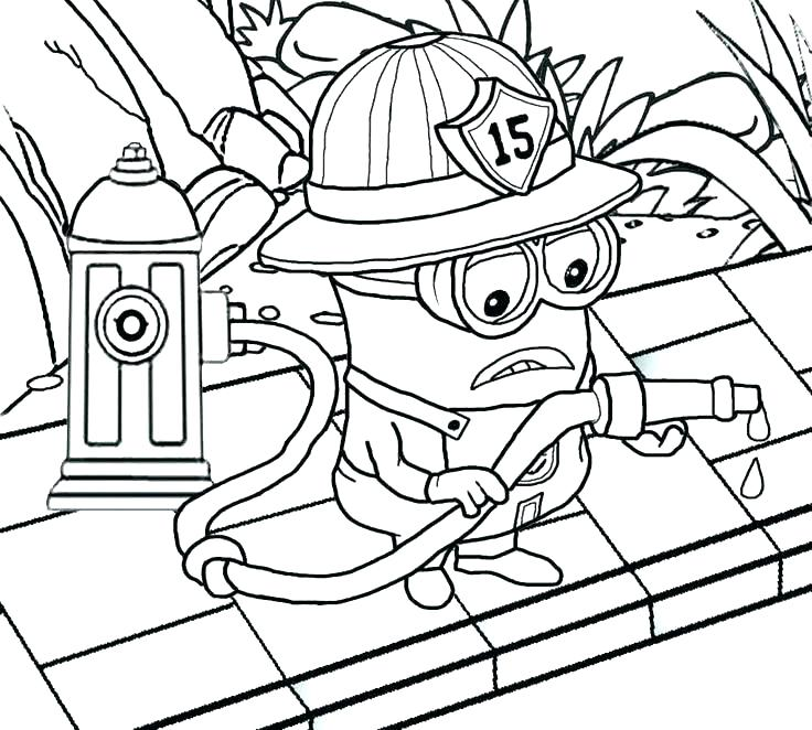 736x662 Fire Prevention Coloring Pages Fireman Coloring Page Firefighter