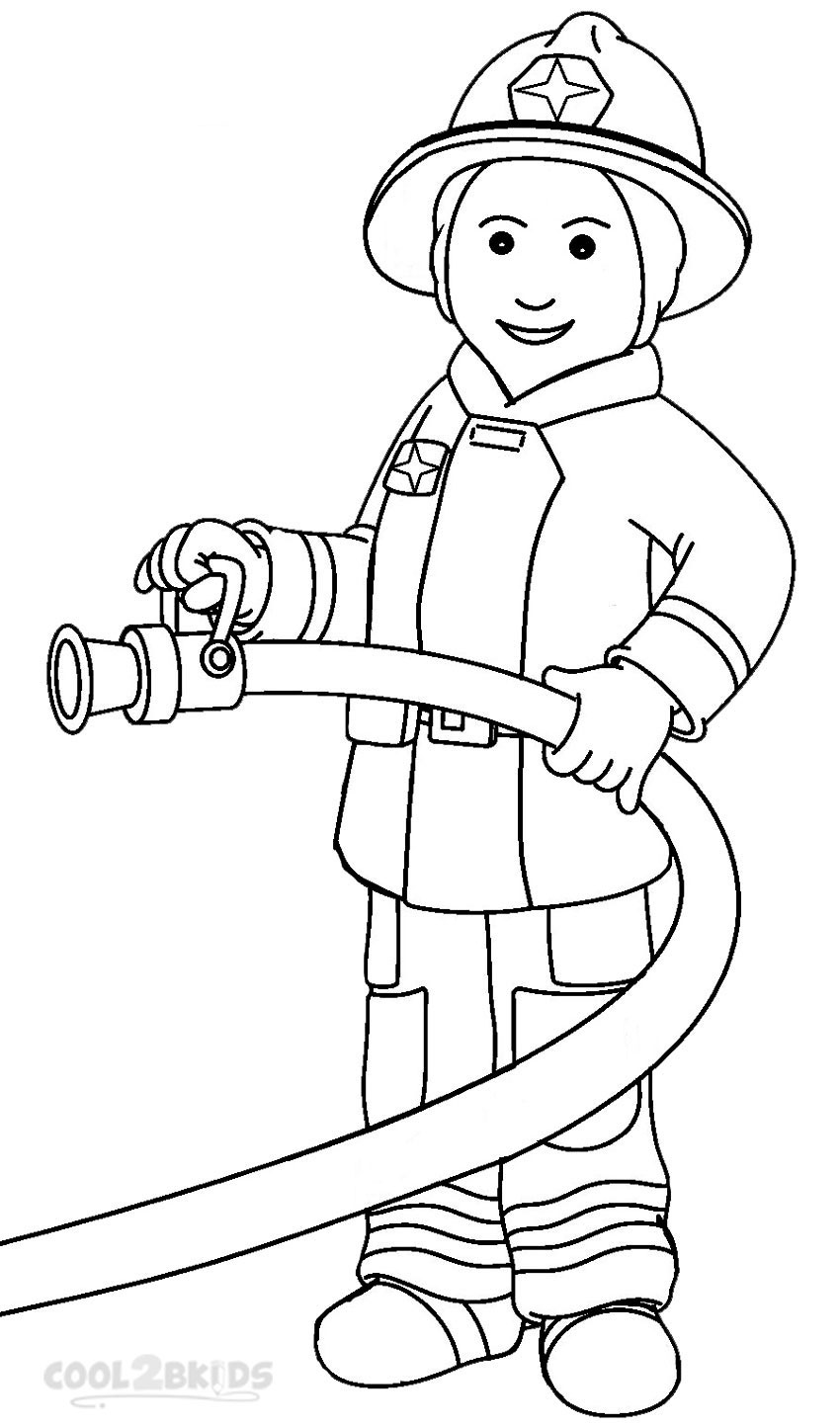 850x1444 Firefighter Coloring Pages