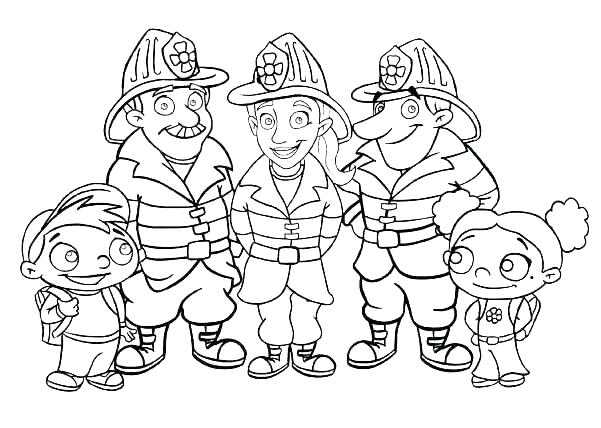 601x428 Fireman Coloring Fireman Coloring Fireman Coloring Pages