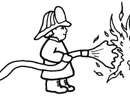 440x330 Fireman Coloring Pages Fireman Coloring Page Firefighter Coloring