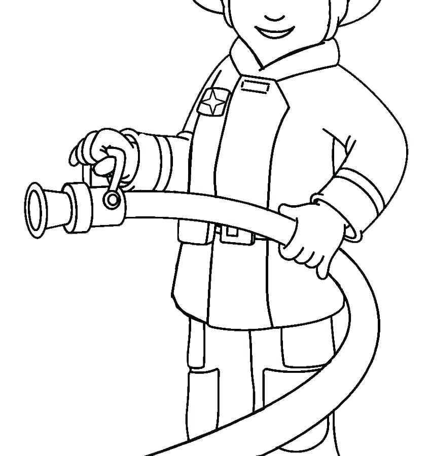 850x900 Fireman Coloring Pages Fireman Colouring Pages Coloring Free