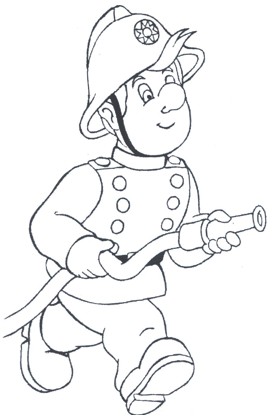 Firefighter Coloring Pages For Preschoolers At Getdrawings Com