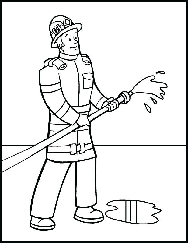 618x798 Fireman Sam Printable Colouring Pages Fireman Is Hero Cartoon
