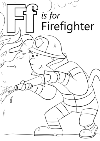 340x480 Letter F Coloring Pages Preschool Printable In Good Letter F