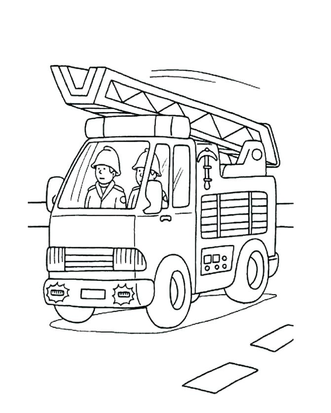 Firefighter Coloring Pages For Preschoolers at GetDrawings ...
