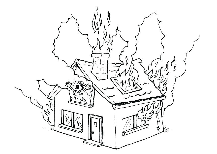 875x620 Firefighter Coloring Pages For Preschoolers Vanda
