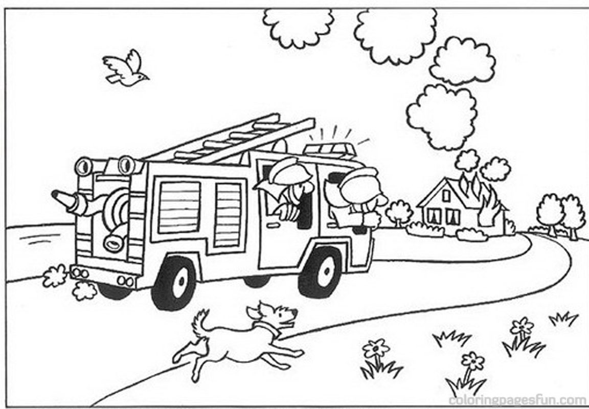 1152x800 Coloring Pictures Fire House Safety Page General Sheets Book