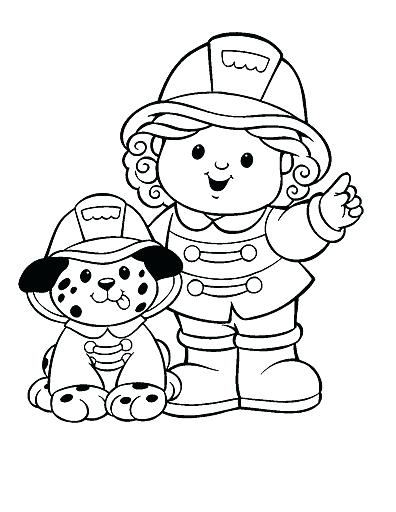396x512 Firefighter Coloring Page Free Firefighter Coloring Pages
