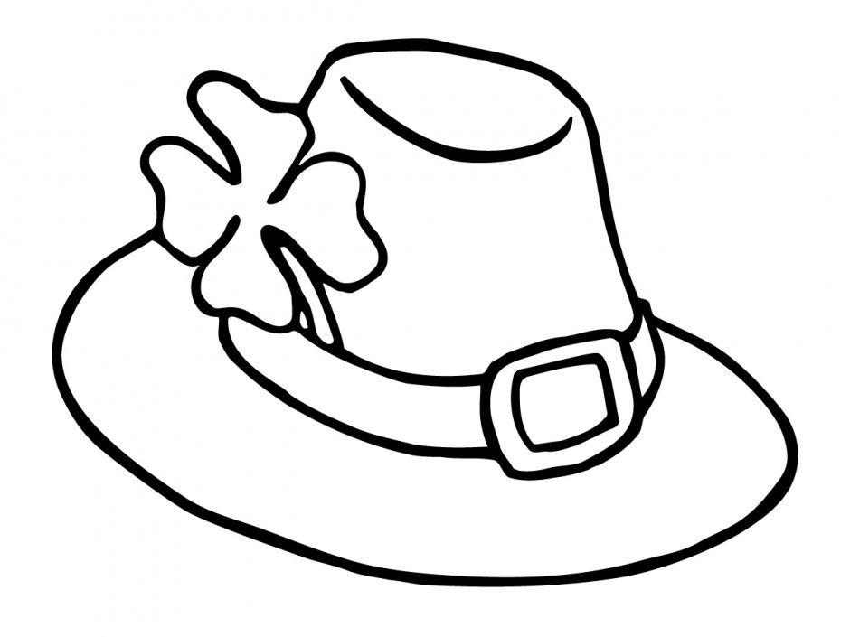940x705 Firefighter Hat Coloring Page