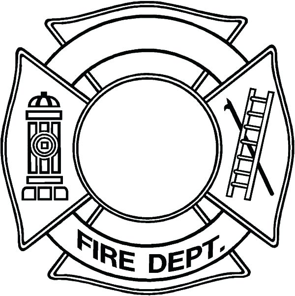 600x601 Firefighter Hat Coloring Page Cowboy Hat Coloring Page Firefighter