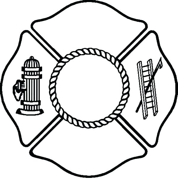 600x633 Firefighter Hat Coloring Page Fire Fighter Coloring Page Fire