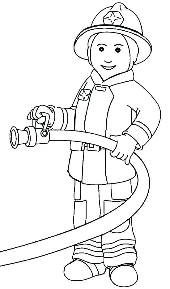 550x934 Firefighter Hat Coloring Page