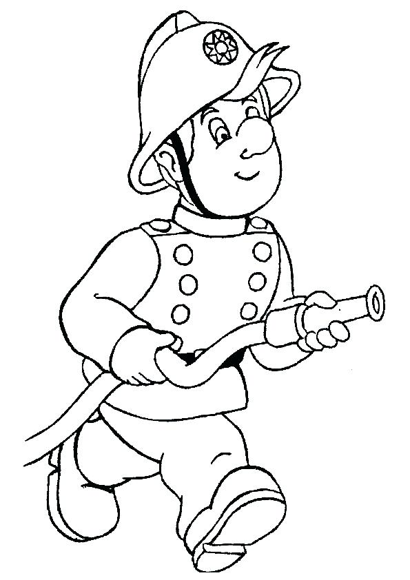 595x842 Firefighter Hat Coloring Sheet Kids Coloring A Other Firefighter